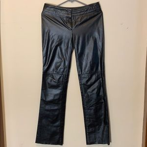 Laundry by Shelli Seagal 100% leather pants, 4